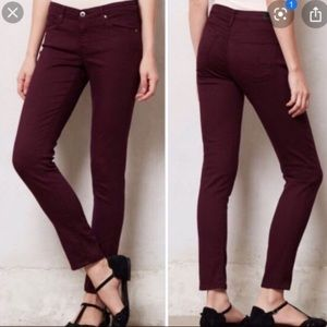 AG The Stevie Ankle Pants in Maroon